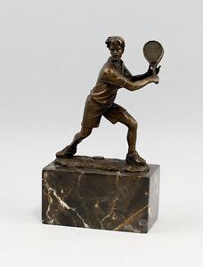 a6-37413-dss-Sculpture-en-Bronze-Milo-sculpture-joueuse-de-Tennis-NEUF