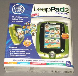 Leap-Frog-Leap-Pad-LeapPad-2-Explorer-Green-Boys-Tablet-4-GB-2-Cameras-5-Apps