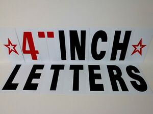 4 inch outdoor sign letters numbers and symbols ebay for Exterior letters and numbers