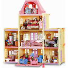 Fisher-Price Loving Family Twin Time Dollhouse Superset with Basic Dollhouse Its Accessories Plus Nursery Room, Kitchen, Parent' Bedroom, Dining Room, Bathroom, Kid' Bedroom, Grandma Sister
