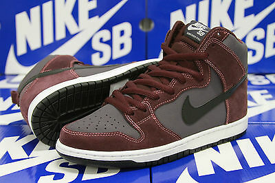 NIKE SB Dunk High Sz 10.5 DEEP BURGUNDY White Black Desert Bloom Plum 305050 602