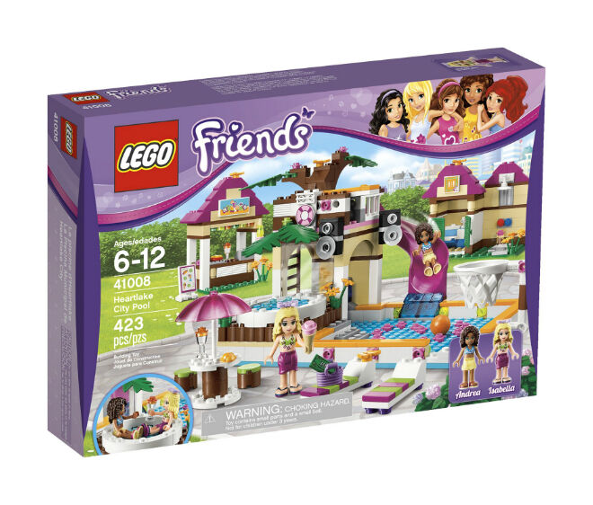 LEGO Friends Heartlake City Pool (41008) Used 100% Complete with Box and Manual