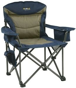 OZTRAIL-TITAN-Chair-200kg-Rating-Folding-Portable-Camping-Picnic-Arm