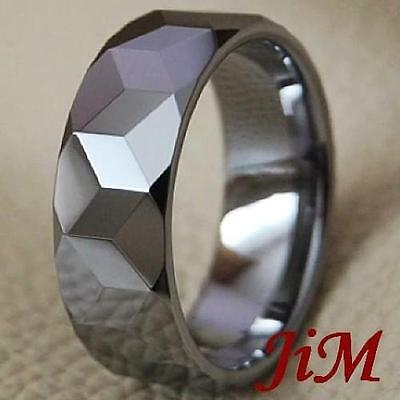Wedding Band Tungsten Carbide Ring Titanium Color King Bridal Jewelry Size 6-15