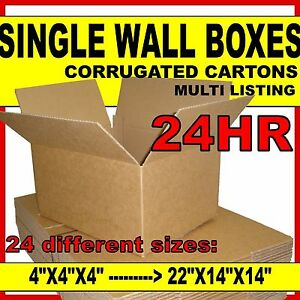 SINGLE-WALL-Cardboard-Postal-Corrugated-Boxes-Cartons-ALL-SIZES-amp-QTYS
