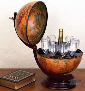 Old world wine bar nautical globe 16 century antique atlas map old world wine bar nautical globe 16 century gumiabroncs Choice Image
