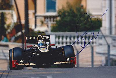Romain Grosjean Hand Signed F1 2012 Lotus-Renault Photo ...
