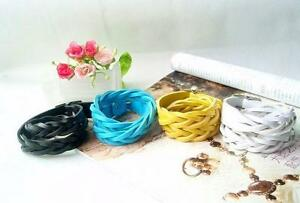 Bracelet-Leather-PU-Braided