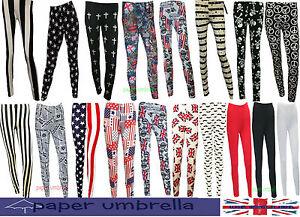 New-Womans-Ladies-Girls-USA-PEACE-STRIPED-AMERICAN-FLAG-LEGGINGS-Full-Length