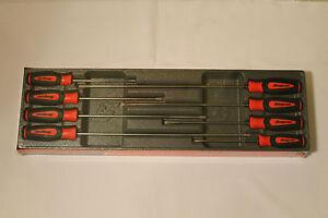 new snap on long screwdriver set 8 piece red instinct handle set sgdxl80br. Black Bedroom Furniture Sets. Home Design Ideas