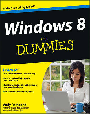 Windows 8 For Dummies by Andy Rathbone (Paperback, 2012)