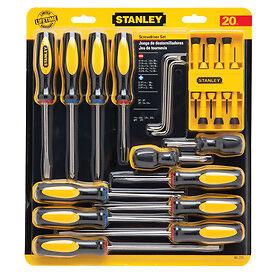 stanley 60 220 20 piece screwdriver set versatile textured grip ergonomic ebay. Black Bedroom Furniture Sets. Home Design Ideas