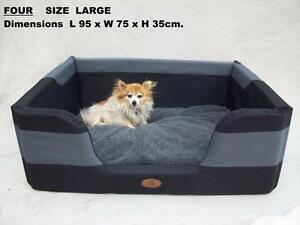 DOG-BED-LARGE-SIX-Sizes-S-to-EXTRA-LARGE-XXL-Four-Seasons-DURABED-STAYDRY-BEST