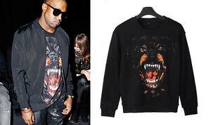 New-Men-Celebrity-Rapper-Hip-Hop-Kanye-Rottweiler-Dog-Top-Shirt-Pullover-Sweater