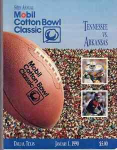 Tennessee-vs-Arkansas-54th-Annual-Mobil-Cotton-Bowl-Classic-1990