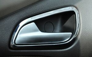 Interior inside chrome door handle cover trim ford - Ford fusion interior door handle replacement ...