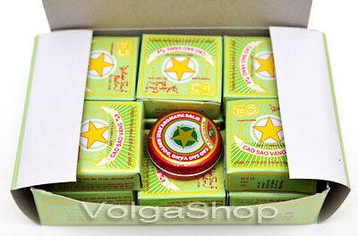 12 Boxes x 8 Grams - Vietnam Golden Star Balm  Cao Sao Vang Vietnamese Balsam 8g