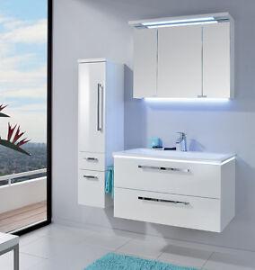 puris badm bel starline 06 polarwei hochglanz 90 cm. Black Bedroom Furniture Sets. Home Design Ideas