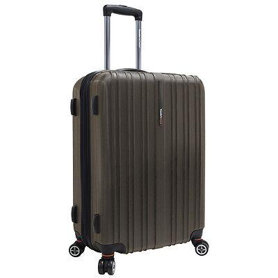 "Traveler's Choice 25"" Brown Tasmania Polycarbonate Spinner Suitcase Luggage Bag"