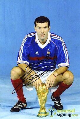 Zinedine Zidane France Hand Signed 12x8 Photo - Full Signature