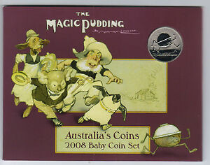 2008-RAM-Uncirculated-UNC-6-Coin-Baby-Mint-Set-Magic-Pudding-Series
