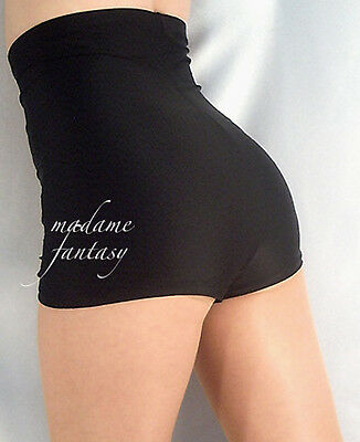HIGH WAISTED SHORTS HOT PANTS BLACK XS-XXXL
