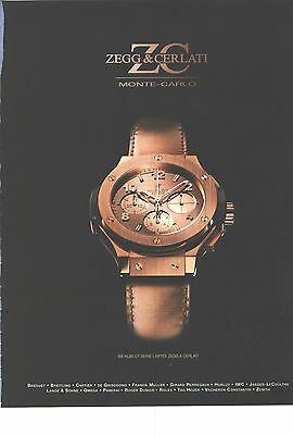 PUBLICITE ADVERTISING   2012   HUBLOT la montre by ZEGG & CERLATI         110812