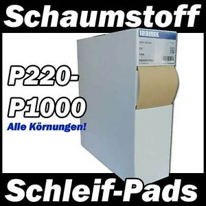 schleifpads flexibel schaumstoff 123lack handpads rolle soft schleifpapier foam ebay. Black Bedroom Furniture Sets. Home Design Ideas