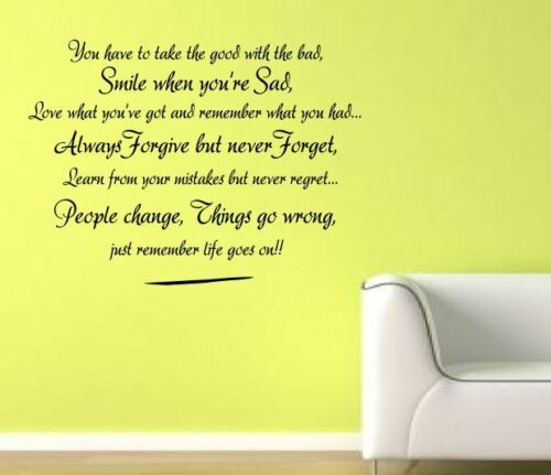Life goes on Wall Art Quotes Wall Stickers Wall Decals Wall Mural