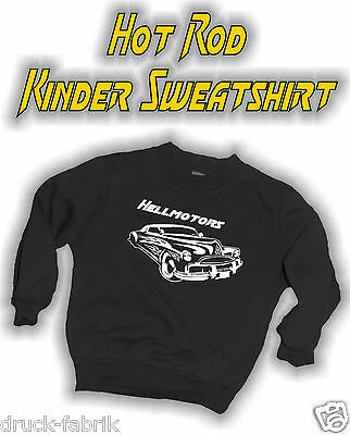 Hot Rod Kinder Sweatshirt Old School Kleidung Kids Pullover Pulli Jungen 98-164