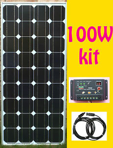 100w solar panel kit panneau solaire charge controller. Black Bedroom Furniture Sets. Home Design Ideas