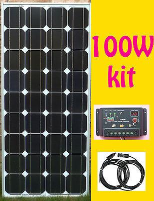 100W Solar Panel Kit panneau solaire charge controller régulateur RV cottage