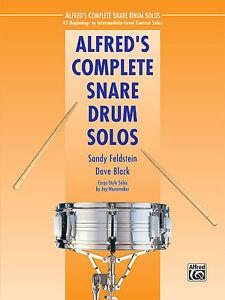 alfred 39 s complete snare drum solos snare drum solo book ebay. Black Bedroom Furniture Sets. Home Design Ideas