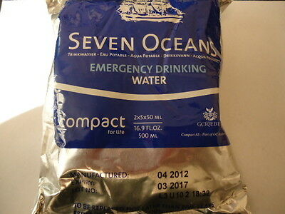 1 Pouch  10 Packets Emergency Drinking Water 16.9 oz 2 Day Supply