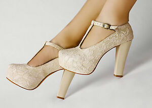 Ivory-Lace-Flower-T-Strap-Platform-Dancing-High-Heel-Women-Shoes