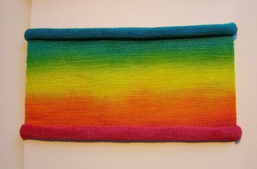 Rainbow Hand Dyed Cotton Headbands  Neck Scarf  Hairband  Soft wearable art