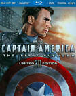 Captain America: The First Avenger (Blu-ray/DVD, 2011, 3-Disc Set, Includes Digital Copy; 3D/2D)