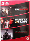 Four Brothers/Hustle And Flow/Get Rich Or Die Tryin' (DVD, 2006, 3-Disc Set, Box Set)