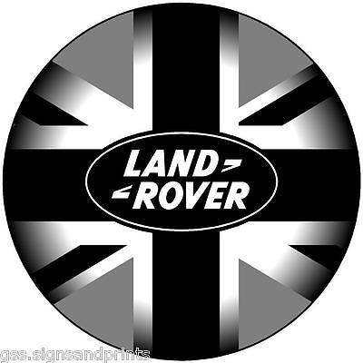 100mm LAND ROVER - BLACK GREY UNION JACK  STICKER DECAL 4X4