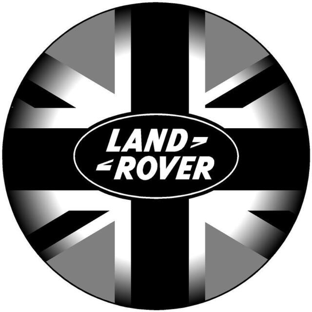200MM LAND ROVER BLACK GREY UNION JACK - PRINTED DECAL STICKER