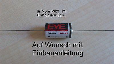 BUDERUS Ecomatic 3000er Ersatz  Batterie Modul  M071, M171 Uhr Ersatzbatterie