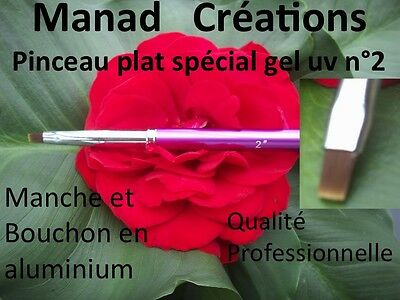 pinceau gel uv n° 2 nail art manad créations french ou one stroke qualité pro