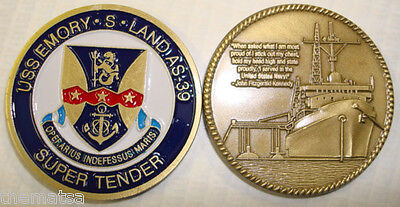 NAVY SUBMARINE USS EMORY S LAND AS-39  MILITARY SUPER TENDER CHALLENGE COIN