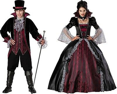 COUPLES VAMPIRE AND VAMPIRESS OF VERSAILLES ADULT COSTUME Bloody Theme Halloween