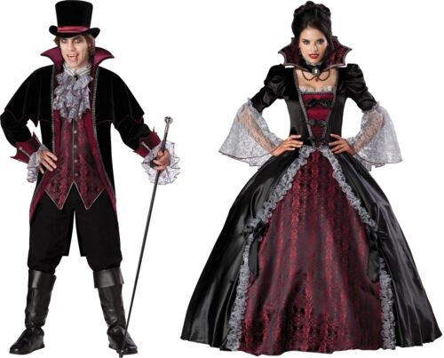 COUPLES VAMPIRE AND VAMPIRESS OF VERSAILLES ADULT COSTUME Bloody Theme Halloween