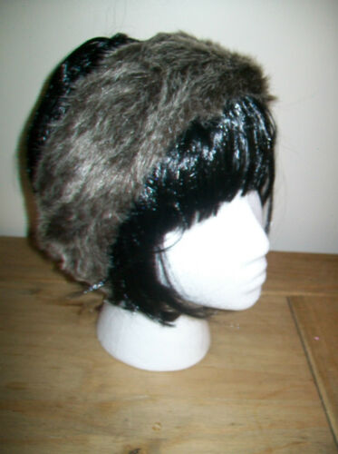 COSSACK SKI HEADBAND HAT FAUX FUR ANIMAL LEOPARD ZEBRA SNOW LEOPARD LADIES GIRLS