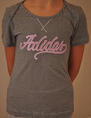 ADIDAS Kinder Mädchen T-Shirt Shirt schwarz/weiß Gr. 128 / 140 / 152  >>NEU<<