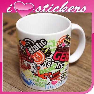 Kaffee Tasse Stickerbomb Kaffeebecher  Shocker OEM JDM Tuning Schrauber MT001