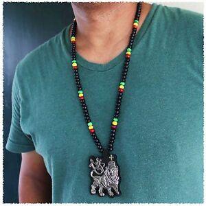 Lion-Of-Judah-Wood-Necklace-Large-Pendant-Rasta-Reggae-Rastafari-Jamaica-Bob-30-034