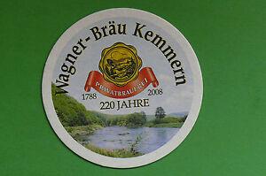 WAGNER-BRAU-Kemmern-bei-Bamberg-220-Jahre-Privatbrauerei-Bierdeckel-NEU